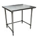 BK Resources CVTOB-3624 - Work Table, 36 x 24'D, 16 gauge, Stainless Steel bracing