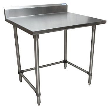 "BK Resources CVTR5OB-3630 - Work Table, 36 x 30""D, 16 gauge, Stainless Steel bracing"