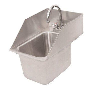 BK Resources DDI-10141024S-P-G - Drop-In Sink, 1-compartment, 12.62 x 18.5 x 15.5 in., with faucet