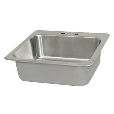 "BK Resources DDI-2016824 - Drop-In Sink, 1 compartment, 20""W x 16""D x 8"" deep"
