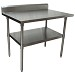 BK Resources QVTR5-4830 - Work Table, 48 x 30'D x 34-3/4' H, 14 gauge, Stainless Steel shelf