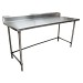 BK Resources QVTR5OB-7230 - Work Table, 72 x 30'D, 14 gauge, Stainless Steel bracing