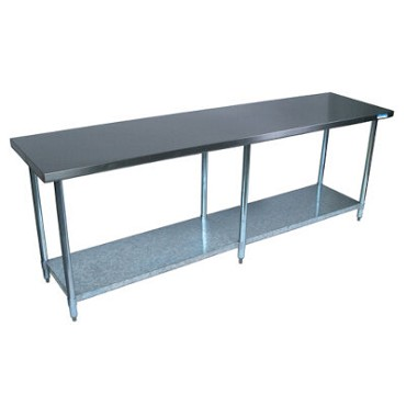 "BK Resources CTT-9636 - Work Table, 96""W x 36""D x 34-3/4""H, 16/304 stainless steel top"