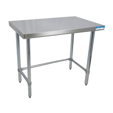 "BK Resources CTTOB-6036 - Work Table, 60""W x 36""D x 34-3/4""H, 16/304 stainless steel top"