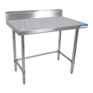 "BK Resources CVTR5OB-4830 - Work Table, 48 x 30""D, 16 gauge, Stainless Steel bracing"
