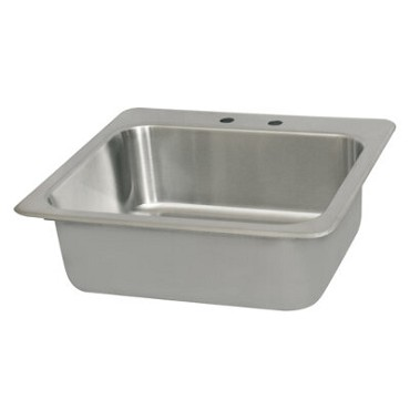 "BK Resources DDI-2016824-P-G - Drop-In Sink, 1 compartment, 20""W x 16""D x 8"" deep"