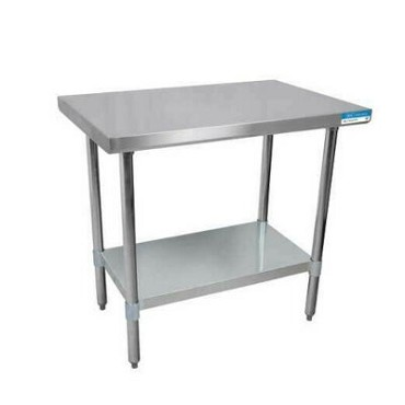 "BK Resources QTT-7236 - Work Table, 72""W x 36""D x 34-3/4""H, 14/304 stainless steel top"