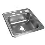 BK Resources BK-DIS-1515 - Drop in sink, bowl size 12
