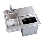 BK Resources BK-DIBHL-2118-P-G Drop-In Ice Bin Chest with Sink & Faucet