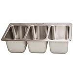 BK Resources DDI3-10141024 - Drop-In Sink, 3-compartment, 35.75