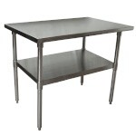 BK Resources VTT-4830 - Stainless Steel Economy Work Table, 48 in
