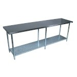 BK Resources VTT-8424 - Stainless Steel Work Table, 84 x 24 in