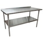 BK Resources VTTR-6024 - Stainless Steel Work Table w/1.5 in Riser, 60 in