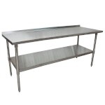 BK Resources VTTR-7224 - Work Table w/Stainless Steel Top, 72 x 24 in