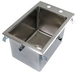 Dented BK Resources BK-DIS-1014-10-P-G - Drop-In Sink, 1 compartment, 12-1/4
