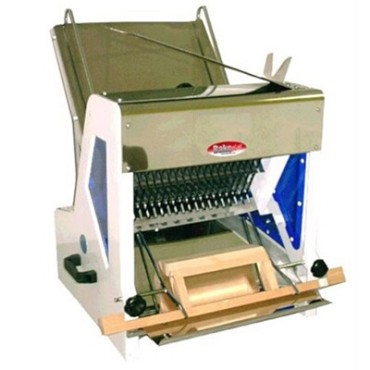 "BakeMax BMGF001-1 - Gravity Feed Bread Slicer, 15"" max loaf length, 7/16"" (35 Blades)"