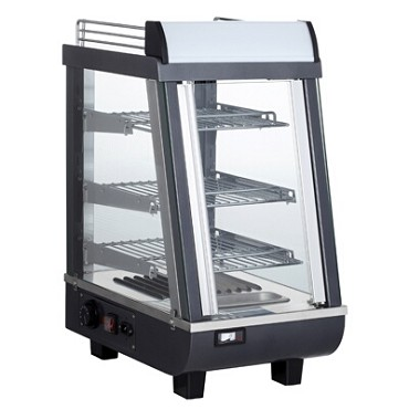 "BakeMax BMTSC14 - Heated Countertop Display Case, full/self service, 14""W, 85°F-190°F"