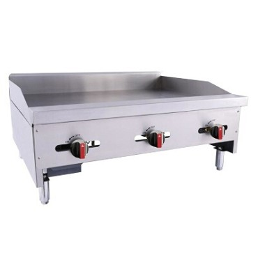 "BakeMax BACG36-3 - Countertop Griddle, gas, 36.25""W x 31.5""D x 17.38""H, (3) burners, 3/4"" plate"