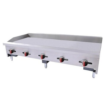 "BakeMax BACG60-5 - Countertop Griddle, gas, 60.25""W x 31.5""D x 17.38""H, (5) burners, 3/4"" plate"