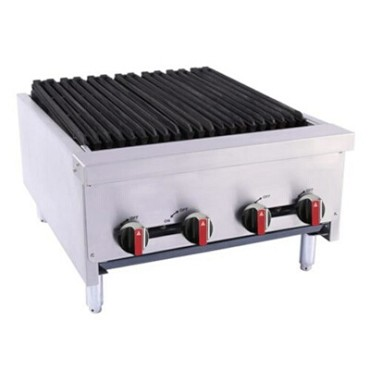 "BakeMax BACGG24-4 - Charbroiler, gas, countertop, 24""W x 31""D x 16-1/2""H, (4) burners"