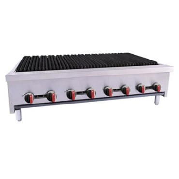 "BakeMax BACGG48-8 - Charbroiler, gas, countertop, 48""W x 31""D x 16-1/2""H, (8) burners"
