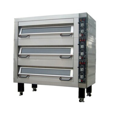 "BakeMax BMFD002 - Double Deck Oven, electric, accommodates (8) 18"" x 26"" pans"
