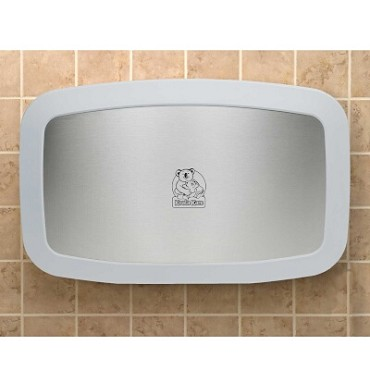 "Koala Kare KB200-05SS - Baby Changing Station, wall-mount, 35"" W x 22"" H, 22-1/8"" opened, white granite"