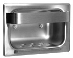 Bobrick B-4390 - Recessed Heavy Duty Soap Dish with Bar, type 304 stainless steel