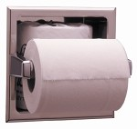 Bobrick B-6637 - Recessed Toilet Tissue Dispenser with Extra Roll Storage feature