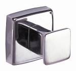 Bobrick B-671 - Single Robe Hook, bright polished stainless steel, flange is 2