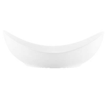 Bon Chef 1200002P - Pasta Bowl, 9-3/10 x 8 x 3 in., oval, coupe, white, (Case of 18)