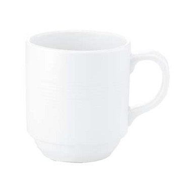 Bon Chef 1400002P - Stacked Lines Mug, 4-3/10 x 3 x 3-2/5 in., porcelain, (Case of 36)
