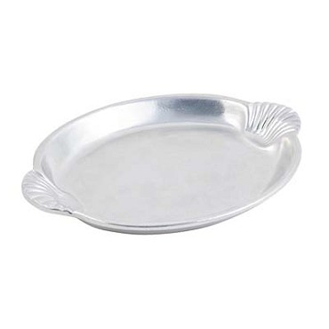 "Bon Chef 2073 - Platter, 14-1/4"" x 20-1/4 inch, with shell handles, aluminum with P"