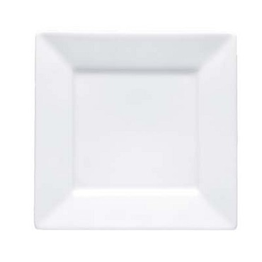 Bon Chef 5000004B - Plate, 6 in., square, wide rim, bone china, (Case of 36)