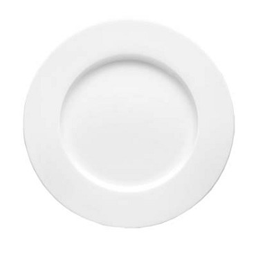 Bon Chef 5000007B - Salad Plate, 9 dia., round, wide rim, bone china, (Case of 24)