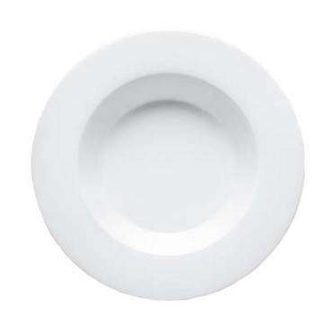Bon Chef 5000008B - Soup Plate, 9 in., round, wide rim, bone china, white, (Case of 24)
