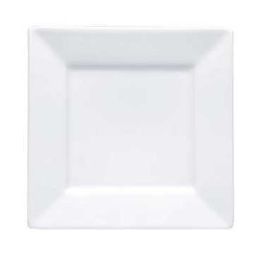 Bon Chef 5000014B - Plate, 12 in., square, wide rim, bone china, (Case of 12)