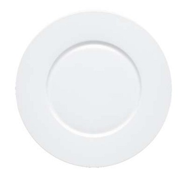 Bon Chef 5000015B - Charger Plate, 12 in., round, wide rim, bone china, (Case of 12)