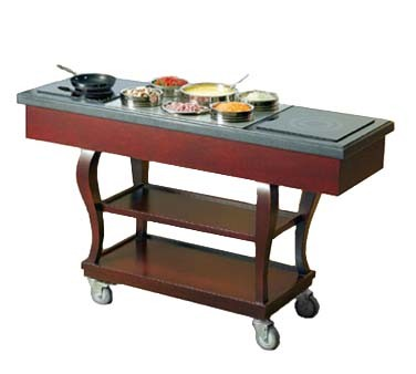"Bon Chef 50065 - Induction Range Cart, 62"" x 20"" x 37""H, traditional, includes"