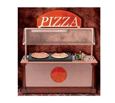 "Bon Chef 50111 - Pizza Station, 75"" L x 33""W, includes: heated pan, overhead h"