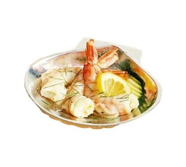 "Bon Chef 5013 - Seafood Baking Shell, 3 oz., 4-1/4"" x 4-1/2 inch, small, (Case of 6)"