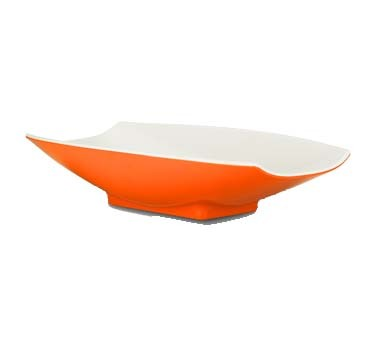 "Bon Chef 53703-2TONEORANGE - Serving Bowl, 32 oz. (1 qt.), 12"" x 6.75"" x 2.75"""