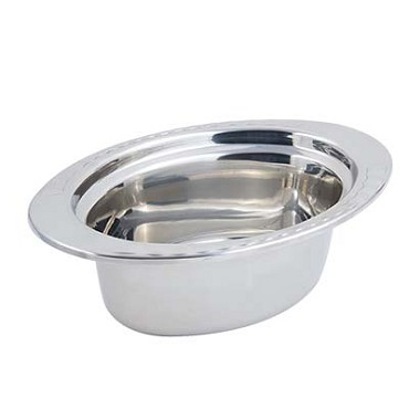"Bon Chef 5603 - Food Pan, full oval, 3 qt. 24 oz., 13-1/8"" x 8-7/8"" x 4-1/4"" , st"