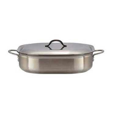 Bon Chef 60004-2TONESS - French Oven Dish, 7 qt., 15 x 11 x 4 in., two-tone stainless steel