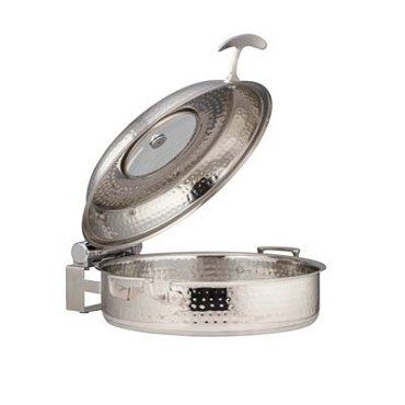 Bon Chef 60030HFSHL - Induction Brazier Pan, 6 qt., 12-3/8 dia., round, glass lid