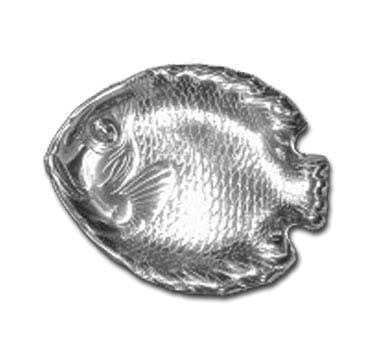 "Bon Chef 80256POLISHE - Fish Dish, 12-1/4"" x 15-1/2"" , medium, aluminum with Pewter-Glo"
