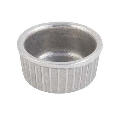 "Bon Chef 9024 - Ramekin, 2 oz., 2-3/8"" dia., round, fluted, aluminum with Pewte, (Case of 24)"