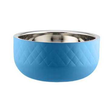 Bon Chef 9319DICARIBBEANBLUE - Serving Bowl, 3.5 qt., 9-7/8 dia., triple wall, Caribbean