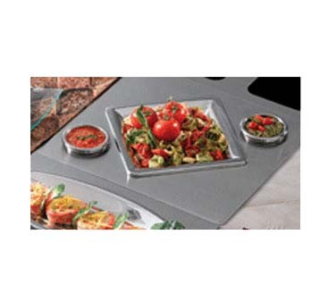 "Bon Chef 966152 - Tile Tray, custom cut, 19-1/2"" x 21-1/2 inch, with 3 cutouts"