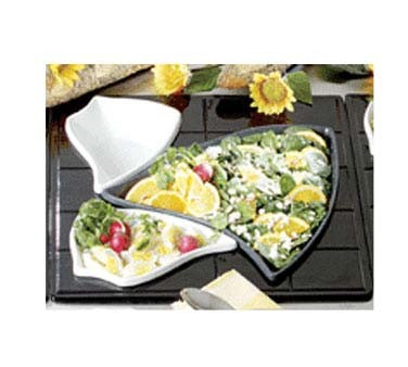 Bon Chef 9666 - Futura 1-1/2 Tile, custom cutout, holds (2) 70006 and (1) 70009